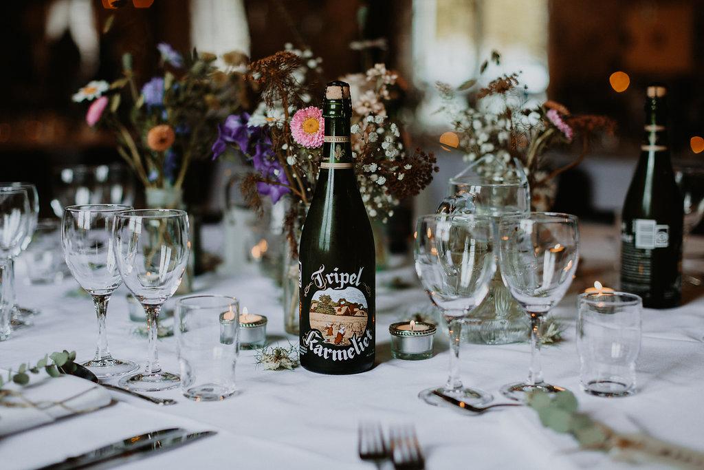 Flasker på bordet