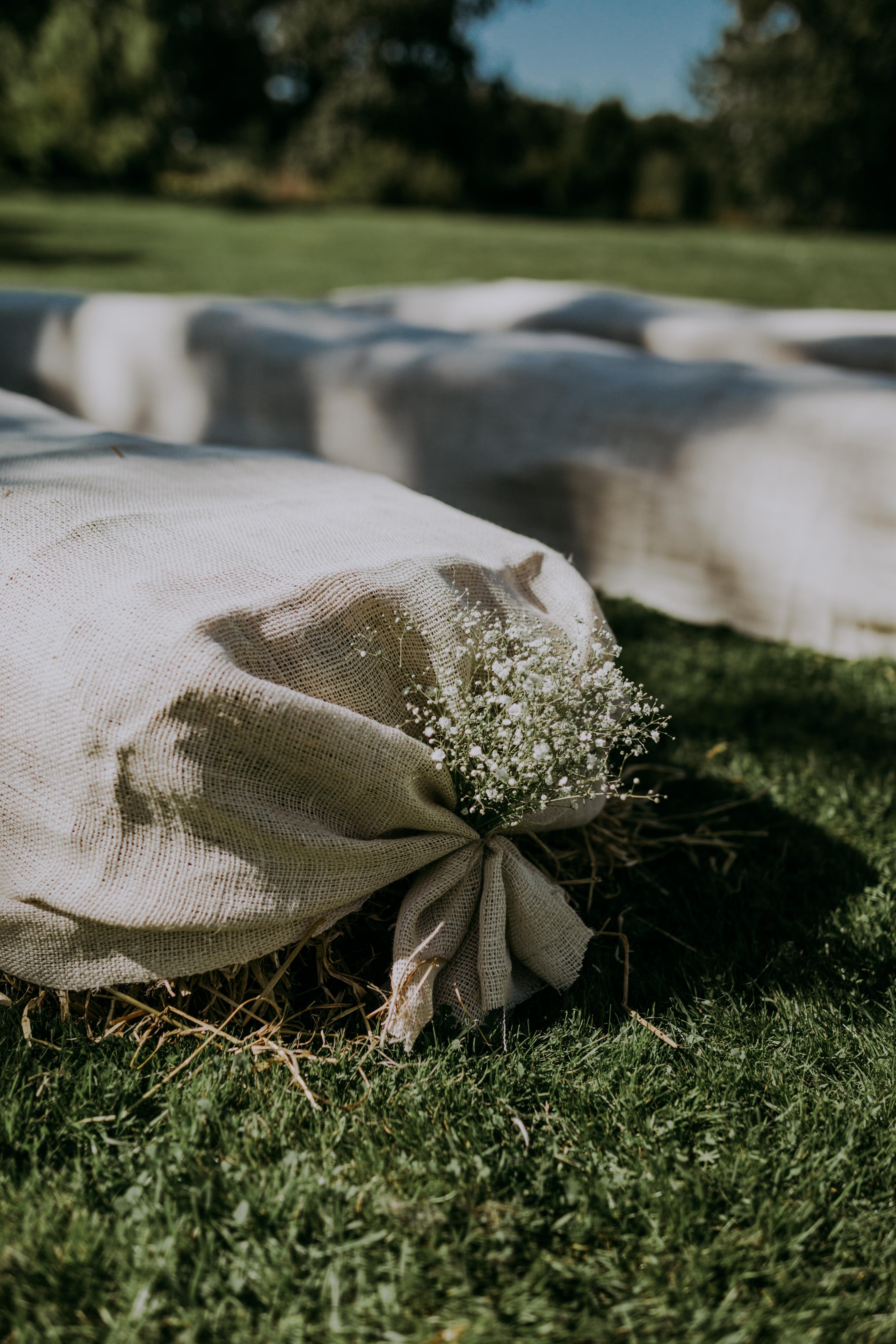 Halmballer til bryllup