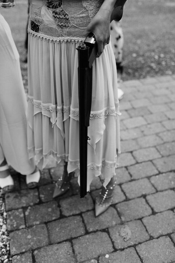 Lerdueskydning action til brylluppet
