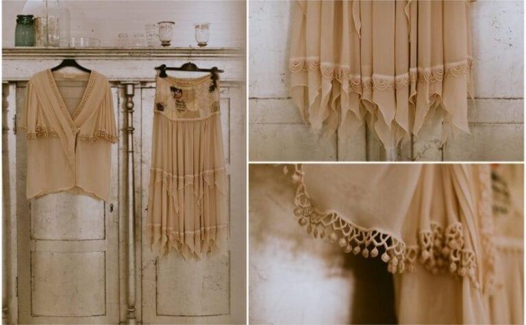 Vintage-brudekjole