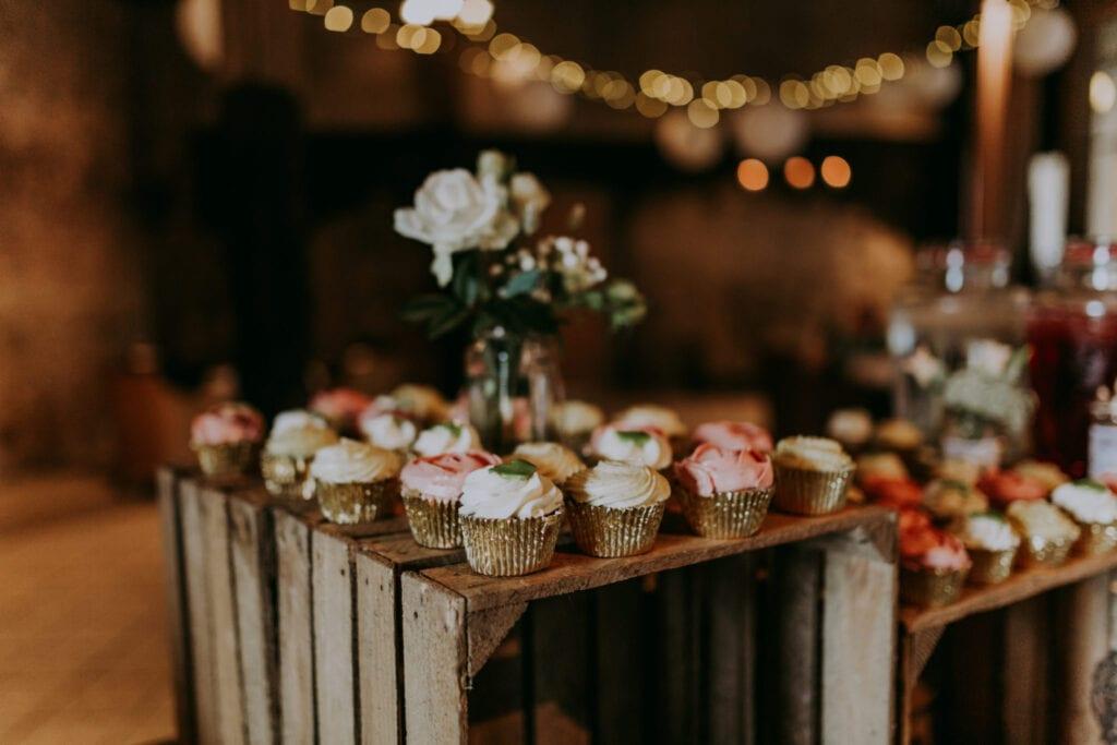Cupcakes og trækasser