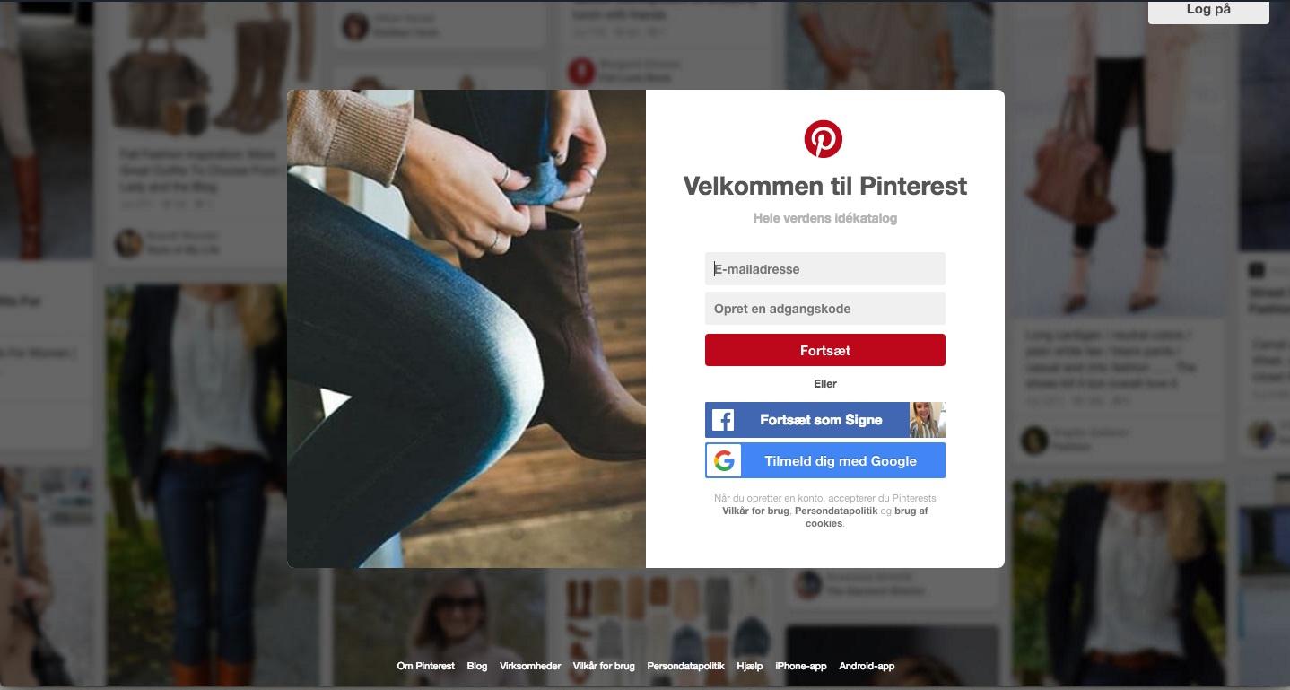 Pinterest forside