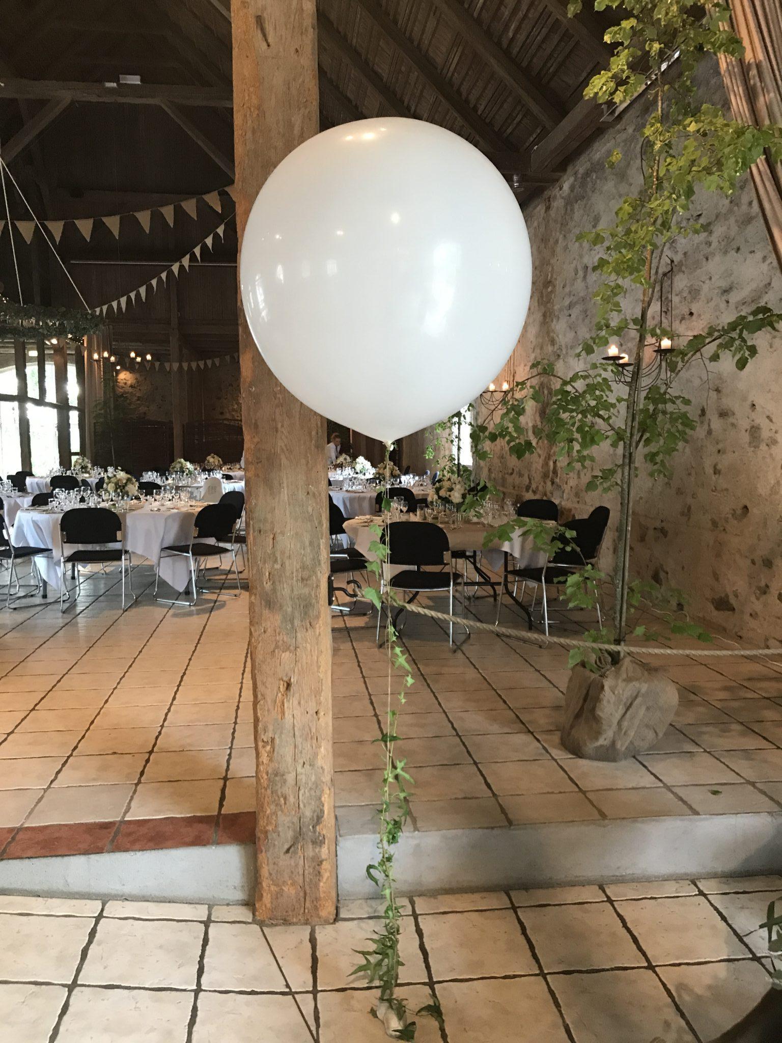 Kæmpeballon til bryllup
