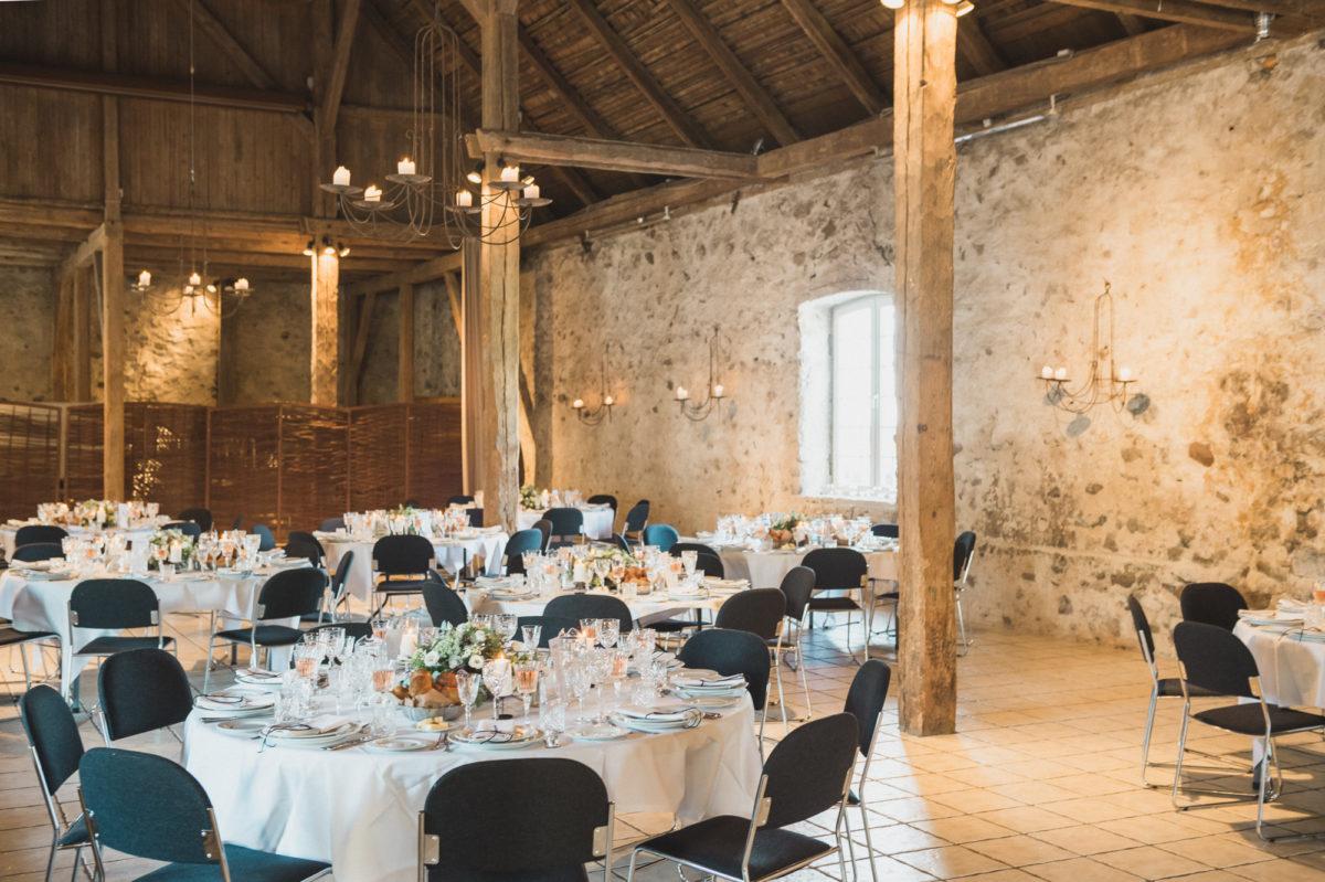Runde borde til bryllup