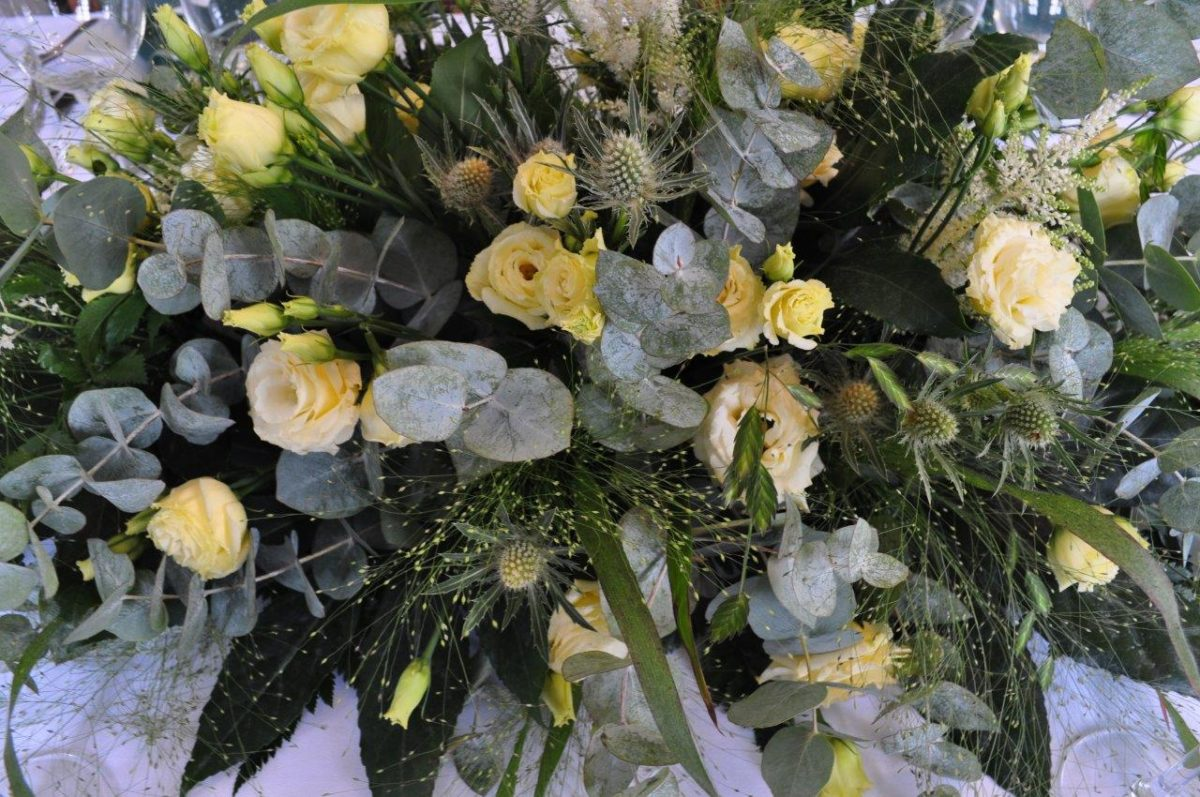Blomster i grønne farver