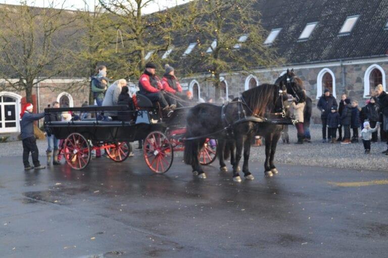 Hestevogn til julearrangement på godset