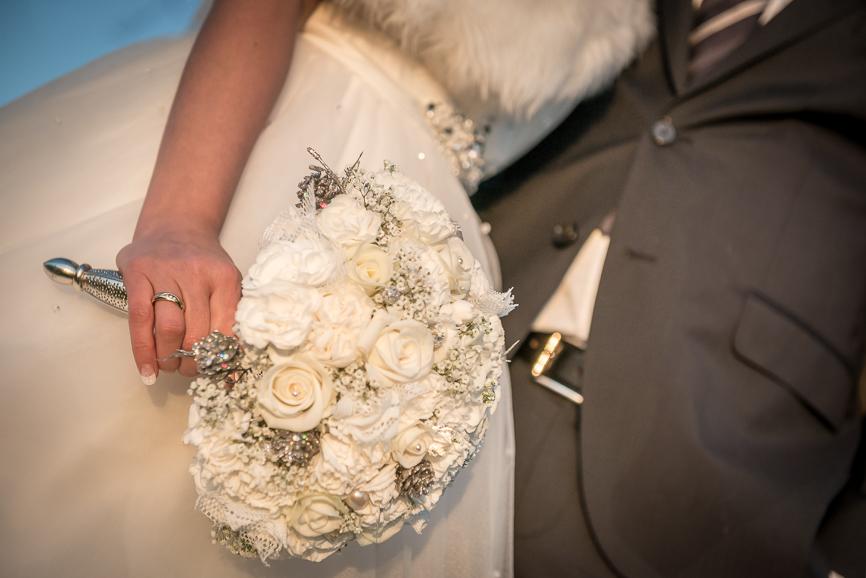 Brudebuket til vinterbryllup