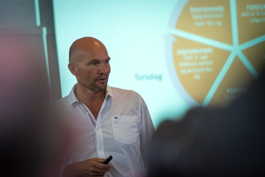 Foredrag i kursuslokale på Sonnerupgaard Gods