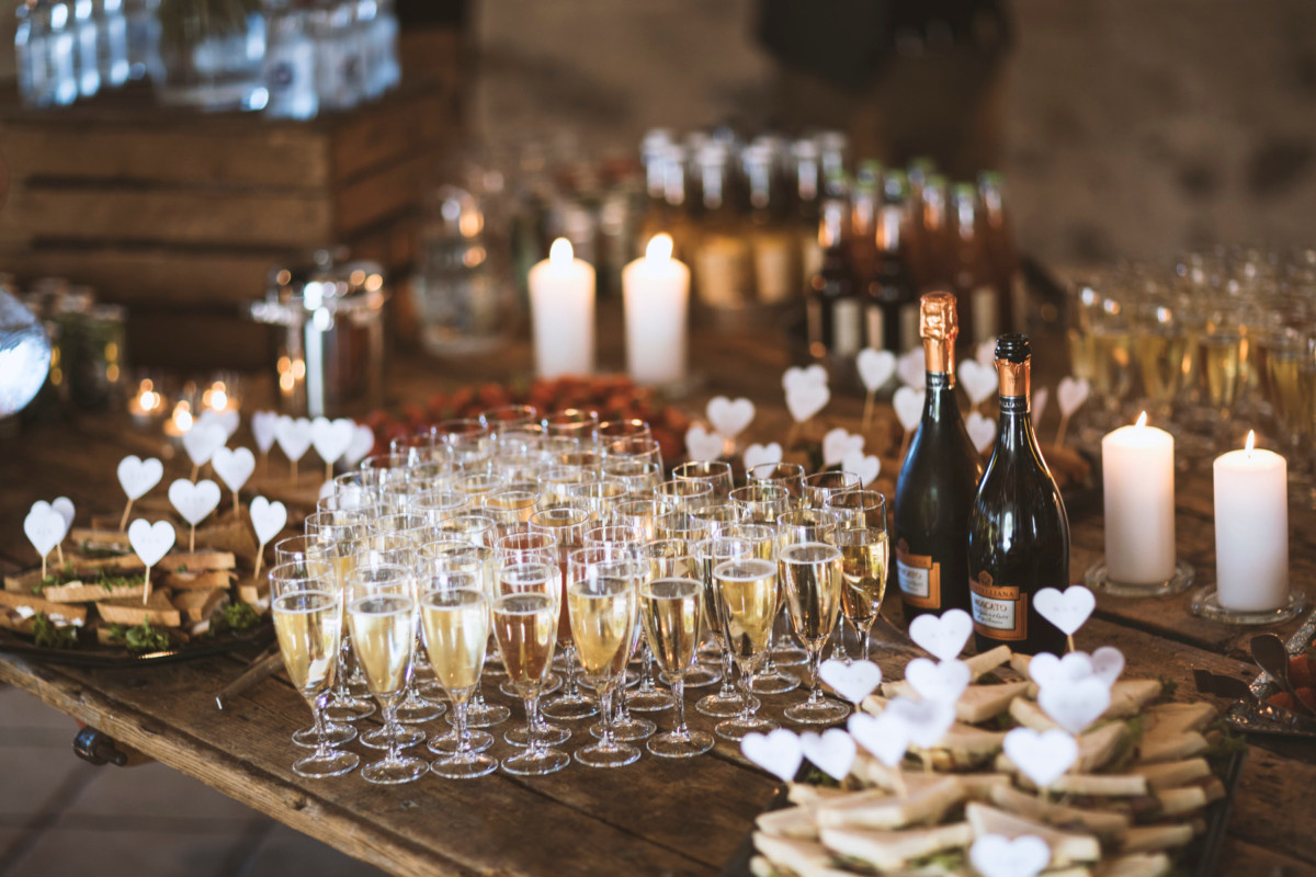 Velkomstdrink til bryllup