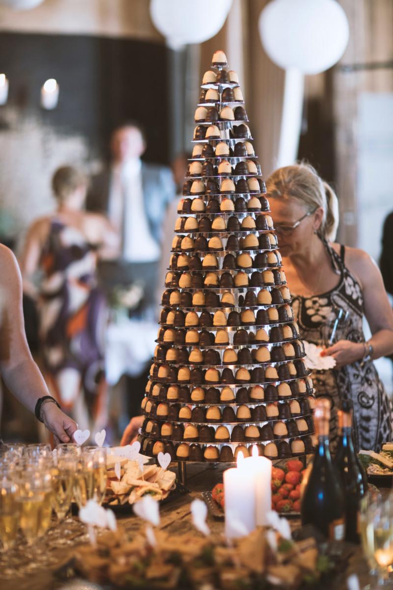 Flødebolletårn til bryllup