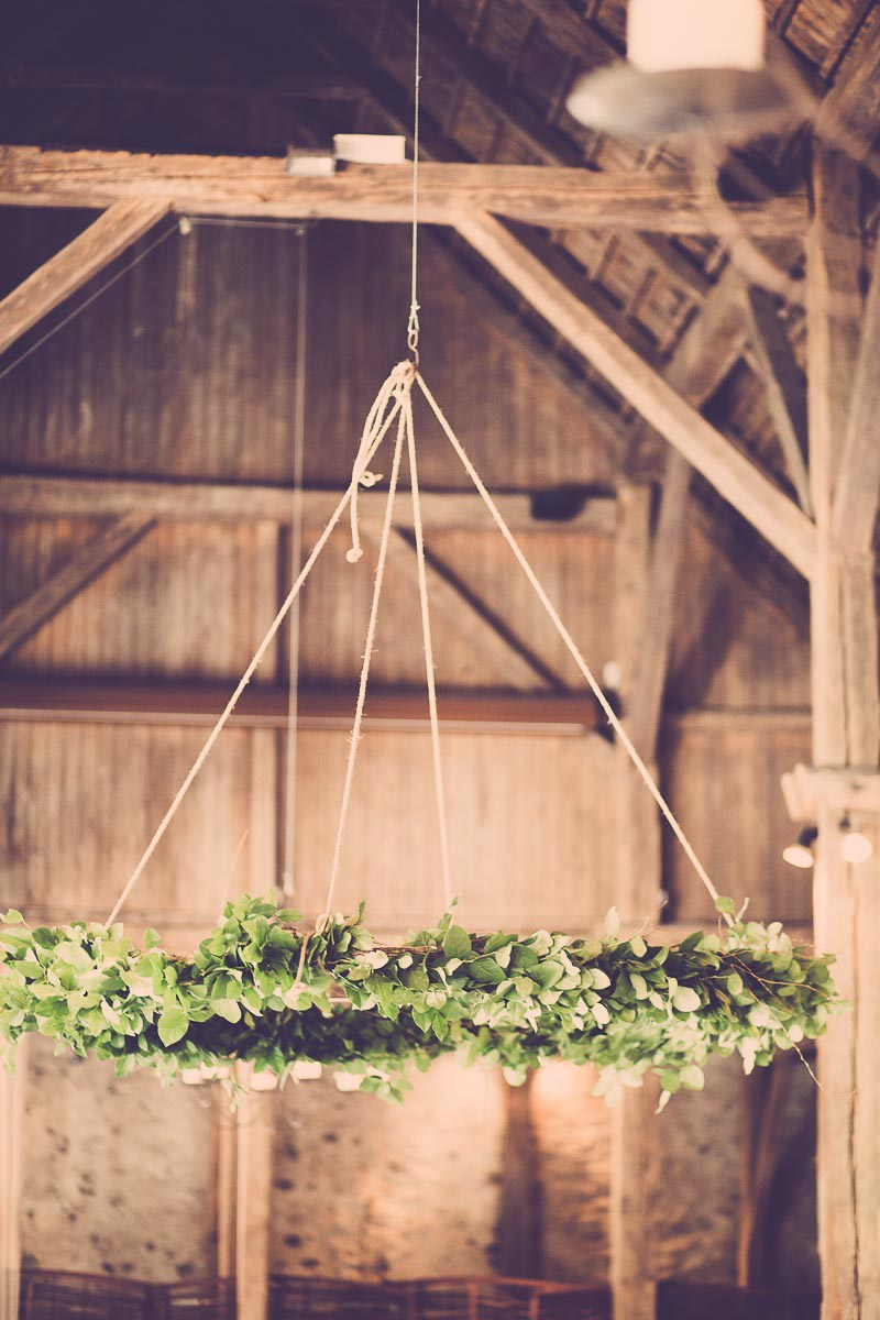 Blomsterdekoration til bryllup