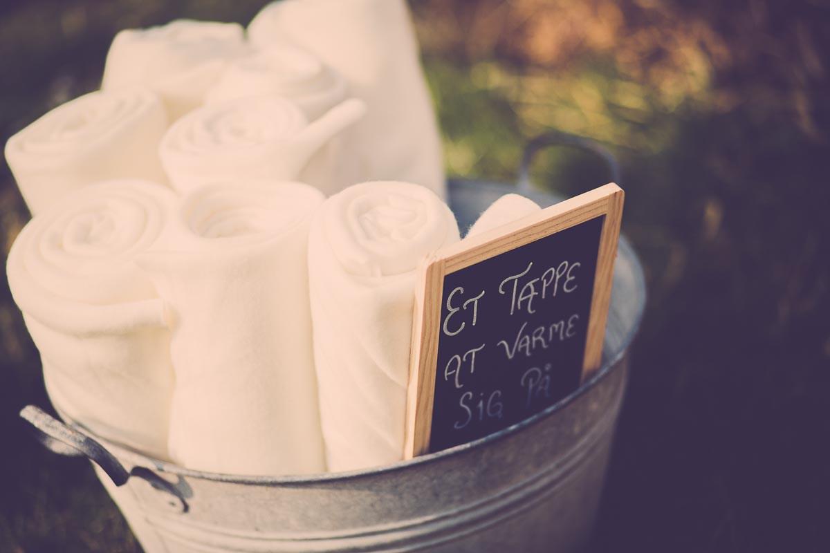 Hyggetæpper til bryllup