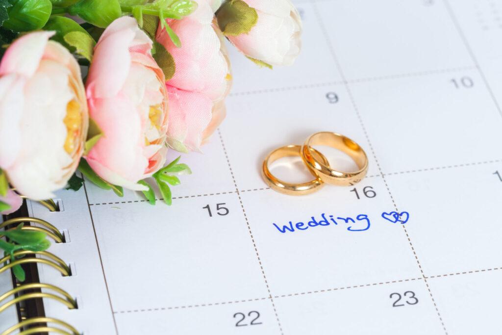 Sæt kryds i kalenderen til bryllup