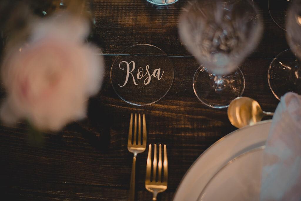Gennemsigtigt bordkort bryllup fra aday2remember
