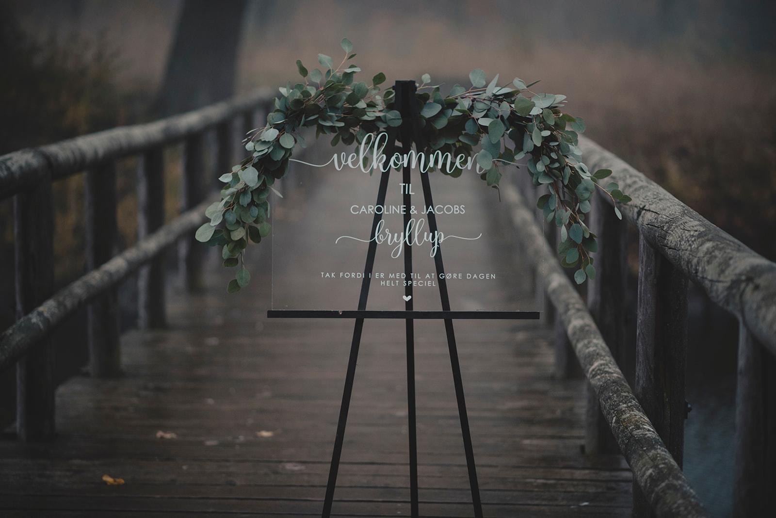 velkomstskilt til bryllup