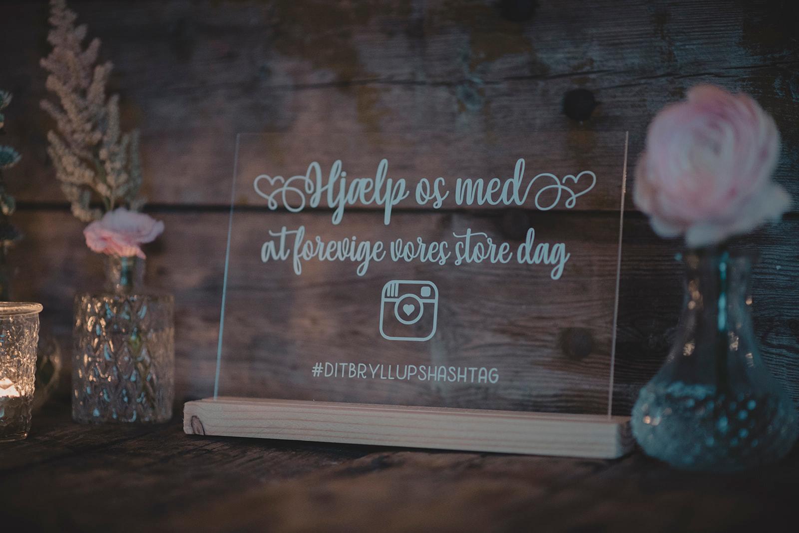 instagram skilt bryllup