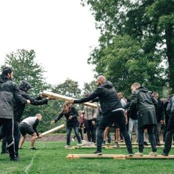 teambuilding for hele firmaet i parken