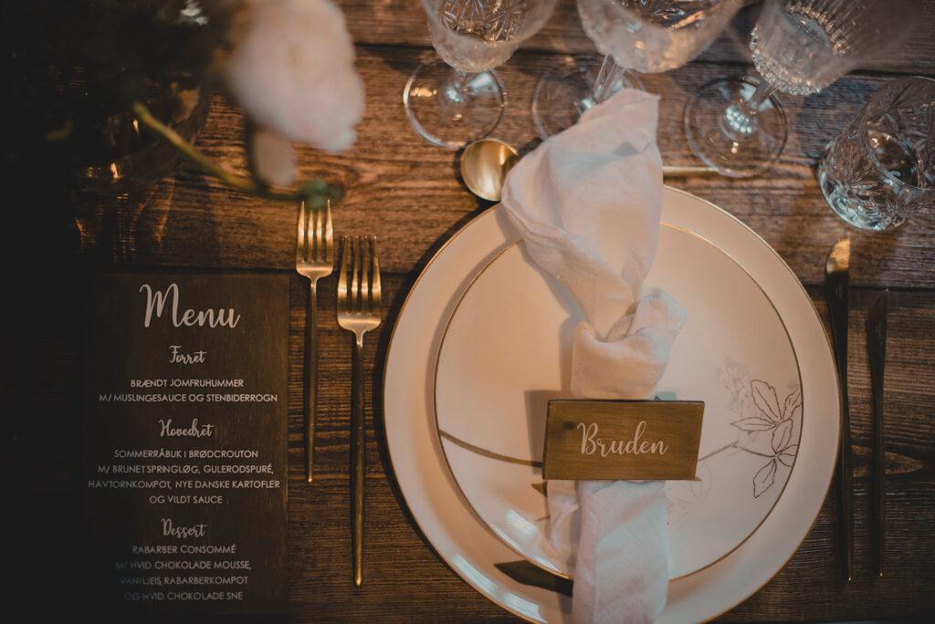 Bordkort til bryllup fra aday2remember