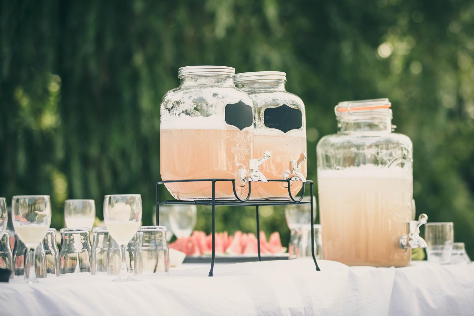 Saftdispensere til bryllup