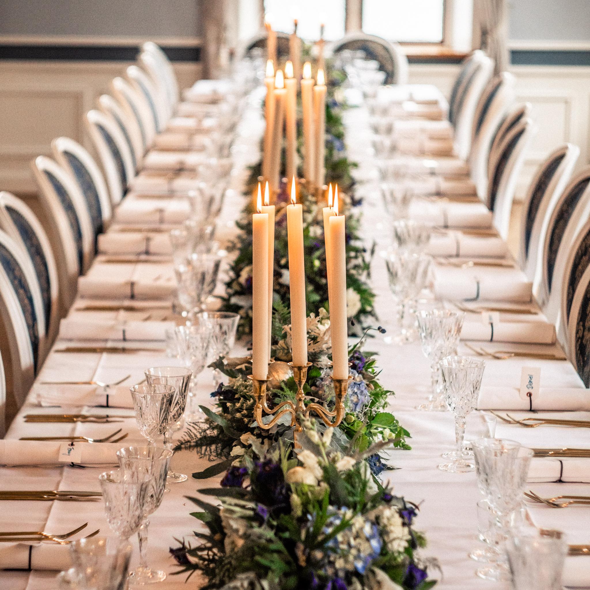 Lange borde til bryllup