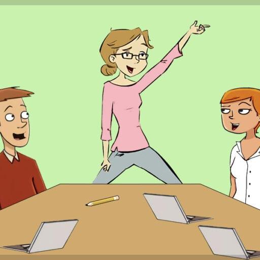 Illustration af møde med høj energi