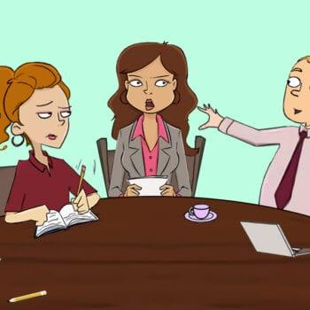 5 kolleger bruger klemmesystemet i deres møde