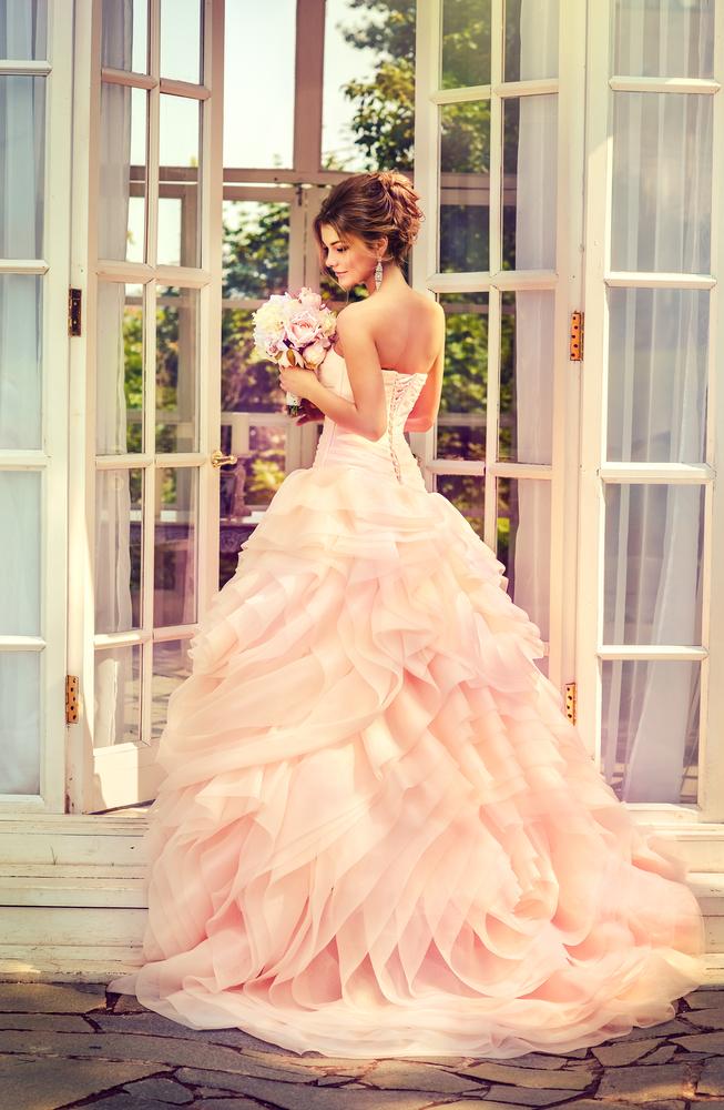 rosa brudekjole