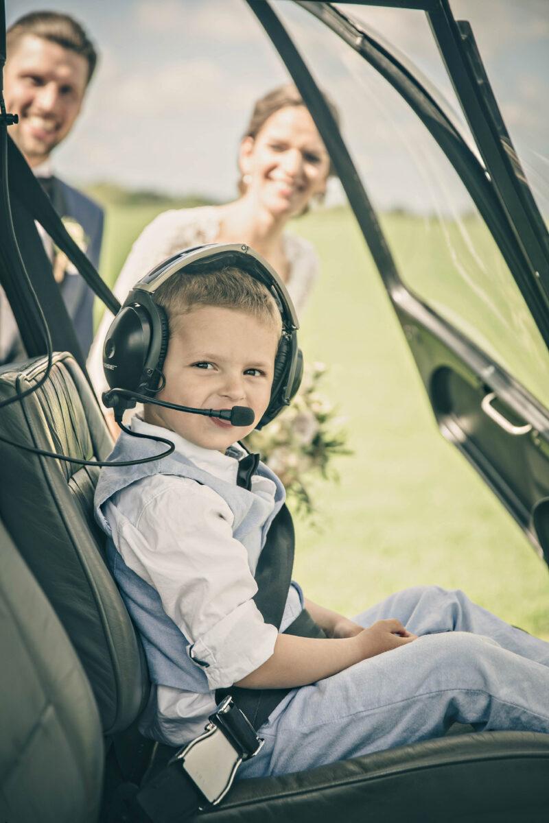 Helikopter til bryllup