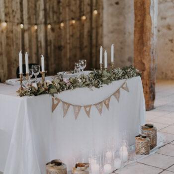 Flot brudebord til barnwedding