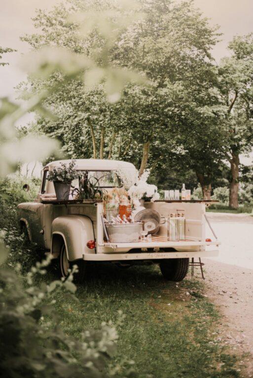 Bryllupsreception på hjul