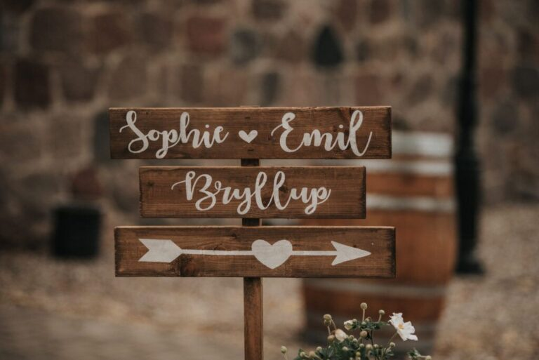 Skilte til bryllup