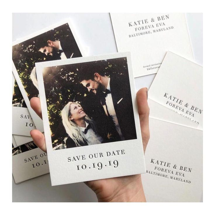 Polaroid invitation til bryllup