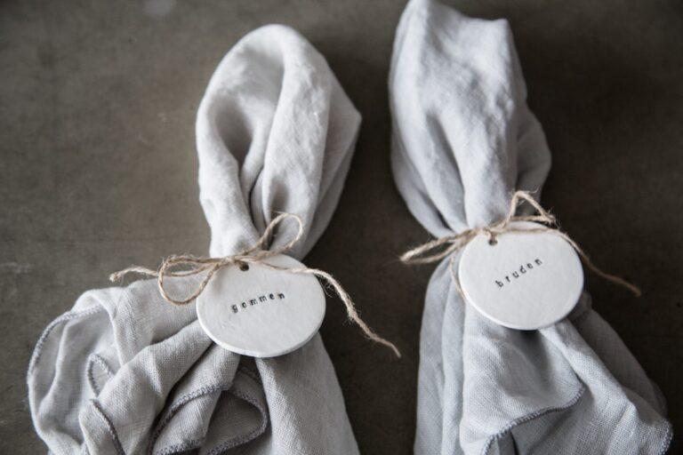 Sonoma seven bordkort ler til bryllup
