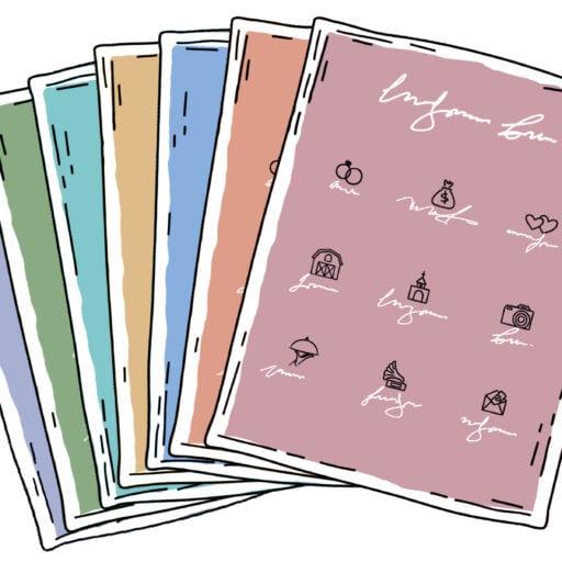En pallet af den ultimative guide til din bryllupsplanlægning