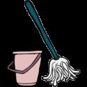 Rengøringsmoppe og spand