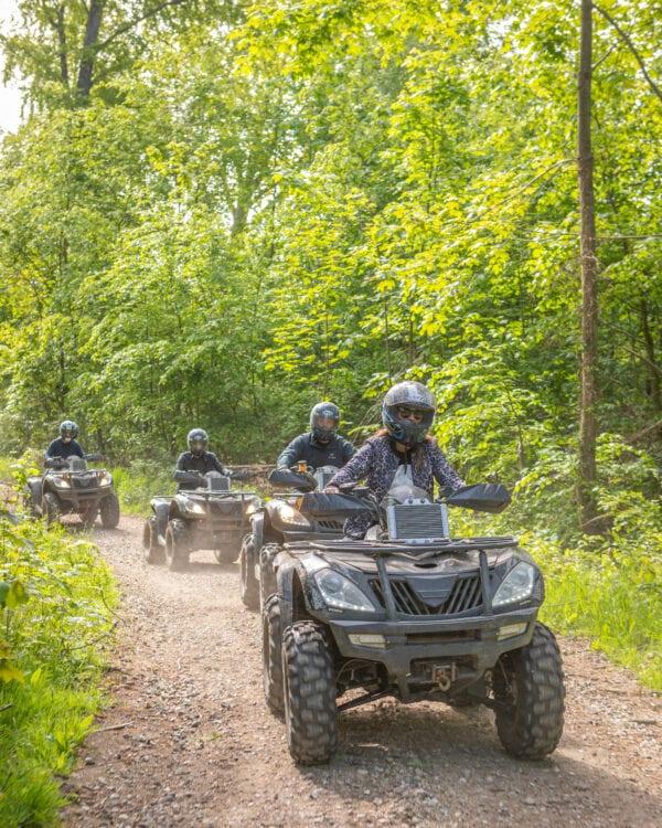 Guidet tur på ATV rundt i omgivelserne omrking Sonnerupgaard Gods