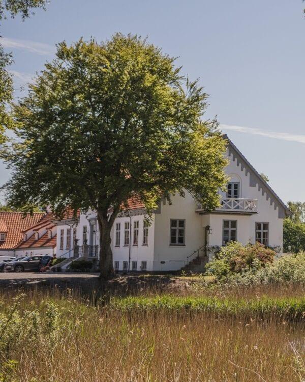 Omgivelserne omrking hovedbygnigen på Sonnerupgaard Gods