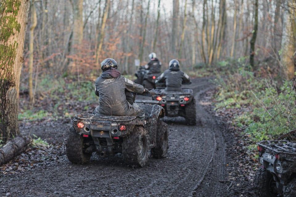 ATV'er på vej ud og køre