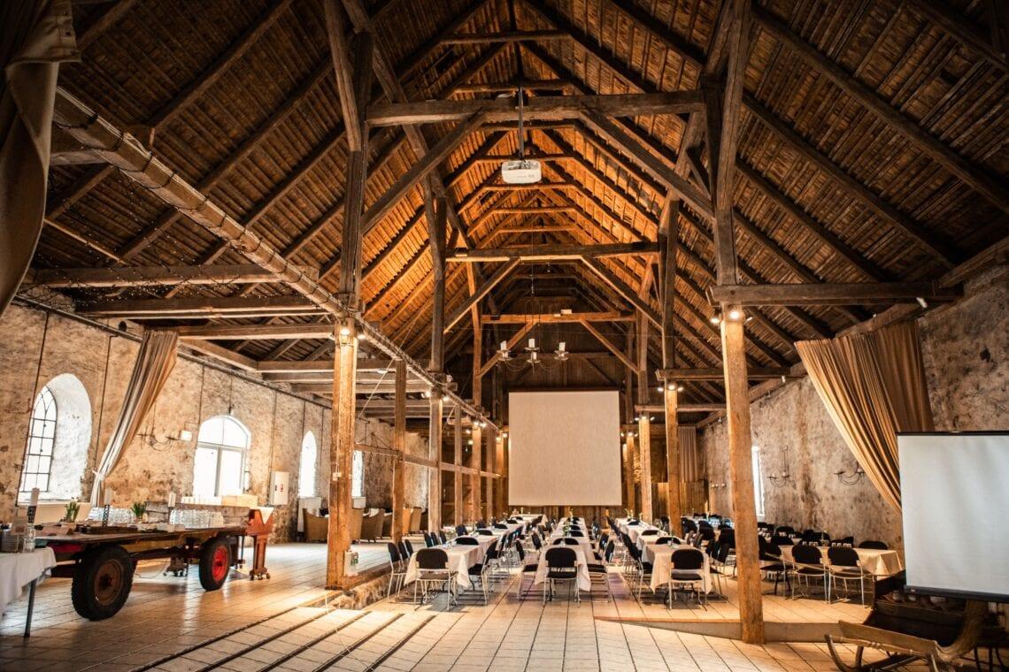 Opstilling til kursus, møde og konference