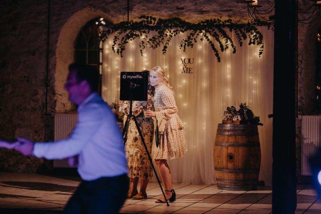 Photobooth med tyl til bryllup
