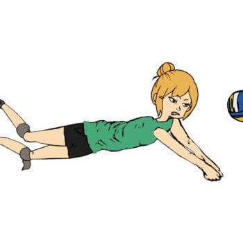 Tine redder en volleyball