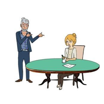 Niels har idéer til mødet, som Tine skriver ned