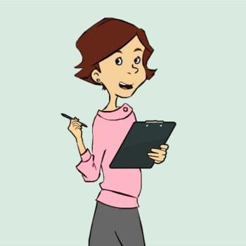 Mødeplanlægger med clipboard og blyant