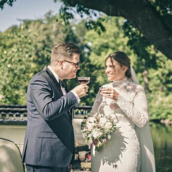 Camilla & Rasmus bryllup med udendørs reception
